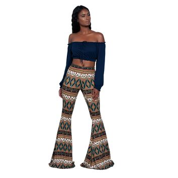 Boho Style Bell Flared Pants