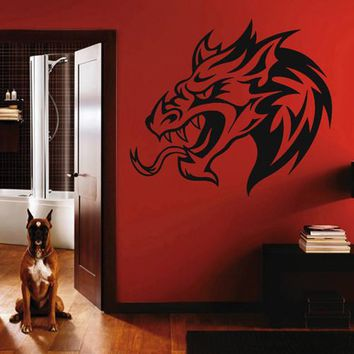 ik1588 Wall Decal Sticker Dragon mythical animal living bedroom teens