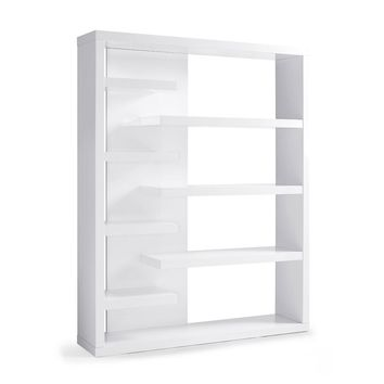 Enzo Bookshelf/Divider in High gloss white lacquer