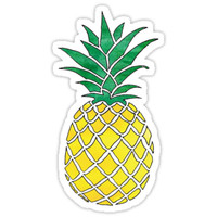 'Watercolor Pineapple' Sticker by meg779