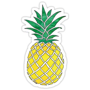 best pineapple sticker products on wanelo. Black Bedroom Furniture Sets. Home Design Ideas