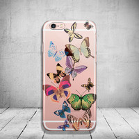 Unique iPhone 6 Case Clear Butterfly iPhone 6s Case Transparent iPhone 6 Plus Case iPhone 5/ 5s/ SE Case Soft Silicone iPhone Case