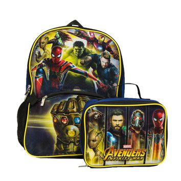 Avengers Backpack With Lunch