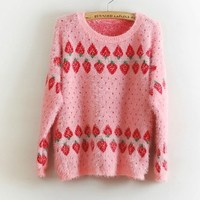 FREE Shipping Vintage Inspired Strawberry Sweater from Moooh!!