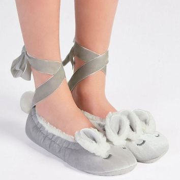 DCCKSP2 Oysho velvet rabbit bandage Home Furnishing shoes