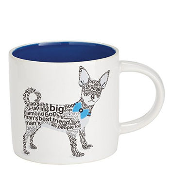 "Enesco Wild About Words Chihuahua Mug, 3.5"", Multicolor"