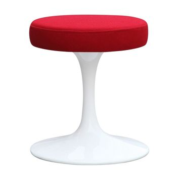 """Flower Stool Chair 16"""", Red"""