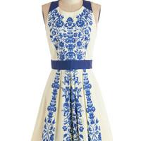 ModCloth Mid-length Sleeveless A-line Ladies Who Luncheon Dress