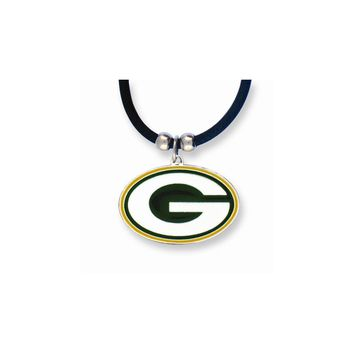 NFL Packers Enameled Zinc 22 inch Necklace