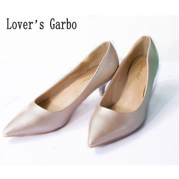 Light mouth candy soft bottom dress shoes pointed low heel shoe women's shoes
