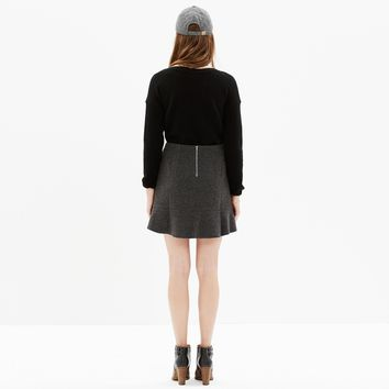 NWT Madewell Boulevard Mini Skirt in Heather Blackbird, Size 8