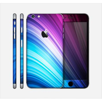 The Pink and Blue Glowing Neon Wave Skin for the Apple iPhone 6 Plus