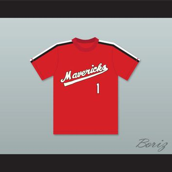 Jon Yoshiwara 1 Portland Mavericks Red Baseball Jersey The Battered Bastards of Baseball