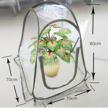 Easy Assembled Folding PVC Garden Greenhouses Home Garden Balcony Mini Greenhouse Flower Warm Room Garden Cover Insect Shield