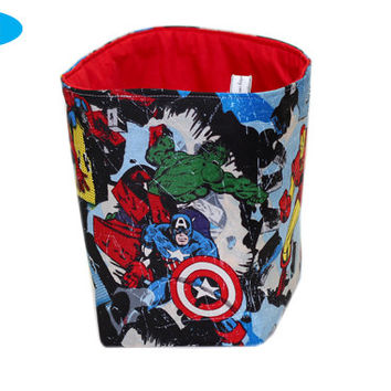 NEW Marvel Storage Bin | The Avengers Bedroom Storage Basket | Hulk | Thor | Captain America | Iron Man | Wolverine | Desk Organizer