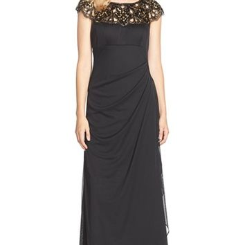 Women's Xscape Ruched Jersey Gown,