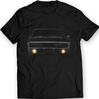 Dodge Charger 1970 R/T American Muscle T-shirt 100% Cotton