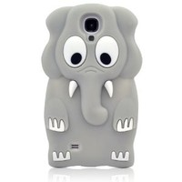 I Need (TM) Lovely 3D Grey Elephant Soft Silicone Case Cover Compatible for Samsung Galaxy S4 I9500