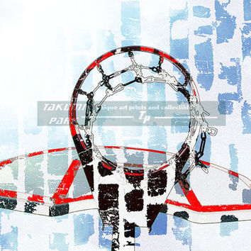 Basketball Print, Sports Decor, Basketball Artwork, Basketball Gift Ideas, Den Art, Basket Ball Art , Basketball Girlfriend Gift, Sports Art