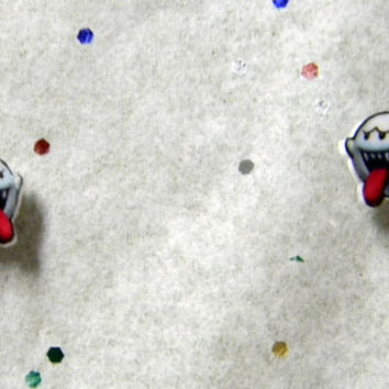 Nintendo Boo Stud Earrings by thekidicarus on Etsy