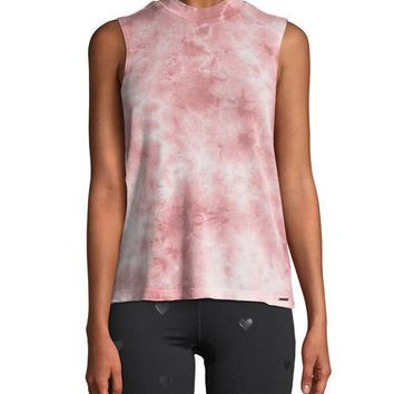 Spiritual Gangster Rebel Tie-Dye Mock-Neck Tank