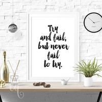 Wall art decor, printable inspirational typography quote