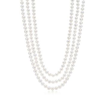 Tiffany & Co. -  Ziegfeld Collection necklace of freshwater cultured pearls.