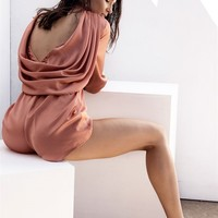 Elk Cowl Jumpsuit - Playsuits by Sabo Luxe