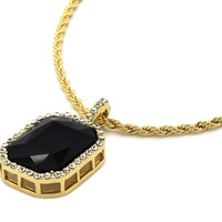 BLACK GEMSTONE CHAIN SET
