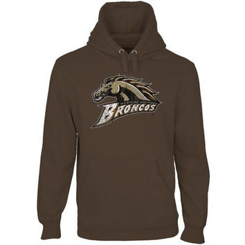 Western Michigan Broncos Distressed Primary Pullover Hoodie - Brown