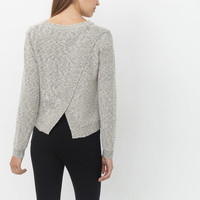 SNOWY FOX CROSS BACK SWEATER