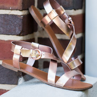 Will You Be Shine Sandals, Rose Gold