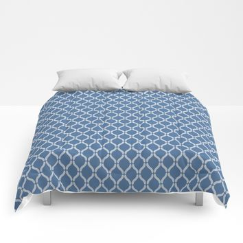 Blue Geometric Pattern Comforters by InDepth Designs