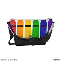 Crayons Messenger Bag from Zazzle.com