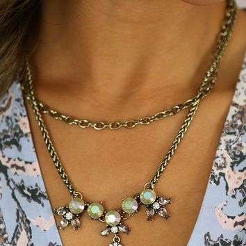 Retro Mix Layer Necklace in Ivory