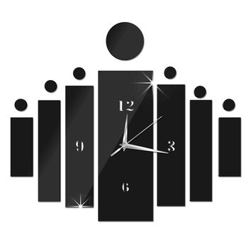 Strong Character Diy Home Decor Decoration Mirror Wall Sticker Quiet Clock [4918606596]