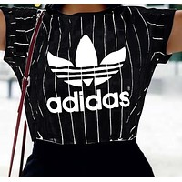Adidas Women Short Sleeve Bowknot Top