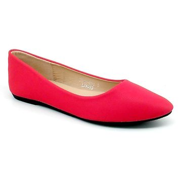 Women's Red Pointed Flats