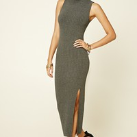 High-Neck Midi Dress