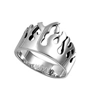 925 Sterling Silver Flames of Hell Ring