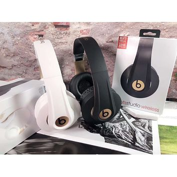 Beats STudio Wireless Magic Sound Bluetooth Wireless Hands Headset MP3 Music Headphone with Microphone Line-in Socket TF Card Slot
