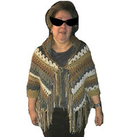 Cuffed Shawl Patita Crochet Open Poncho Finished Product Made to Order