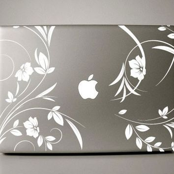 Lirenda Floral - macbook decal mac decal macbook sticker macbook air macbook pro decal