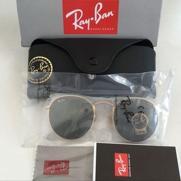 Gotopfashion Ray Ban Round Metal Sunglasses RB3447 50mm Matte Gold Polarized Frames