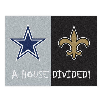 Dallas Cowboys-New Orleans Saints NFL House Divided NFL All-Star Floor Mat (34x45)