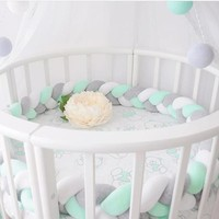 300cm Baby Bed Bumper  Plush Baby Crib Protector Infant Crib Bumper For Baby Room Decoration Bedding Accessories