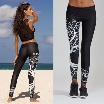 Sexy Women Printed Yoga Pants Sportwear Women Workout Gym Fitness Exercise Athletic Pants