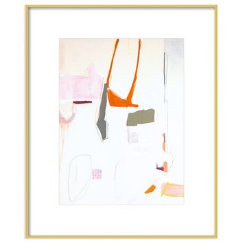 Persimmon Rains by Holly Addi Framed Print by Artfully Walls