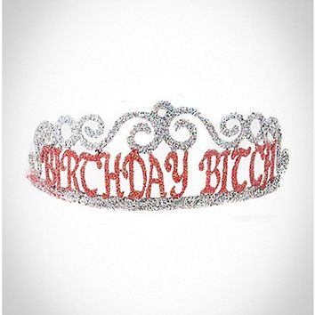 'Birthday Bitch' Tiara - Spencer's