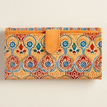 Blue and Tan Leather Wallet